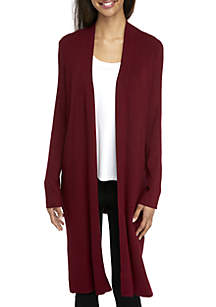 Long Front Cardigan with Slits
