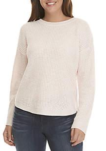 22834fd7634 Jones New York Plus Size Raglan Sleeve High Low Sweater