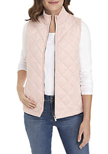 Quilted Front Sweater Vest