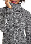 Womens Long Sleeve Marled Sweater