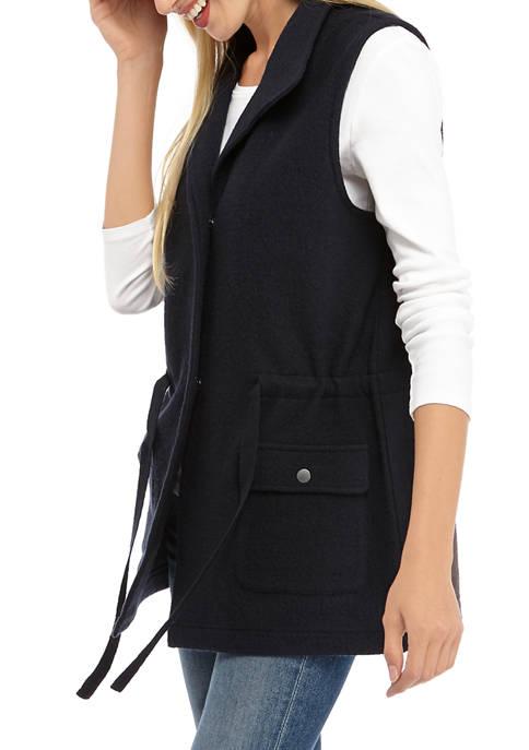 Jones New York Womens Boiled Wool Cargo Vest