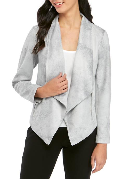 Jones New York Womens Drape Front Jacket