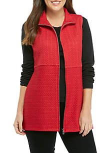 Herringbone Quilt Jersey Vest