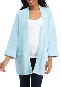 Chunky Ribbed Knit Cardigan