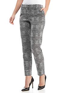 Plaid Double Knit Pants