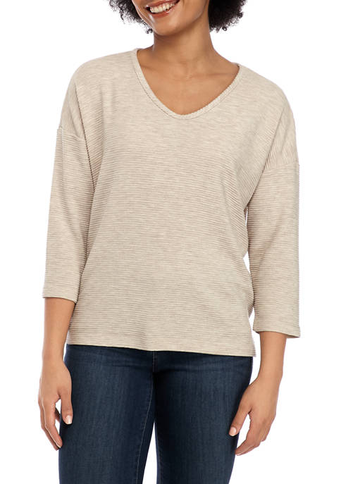 Jones New York Womens Soft V Neck Pullover