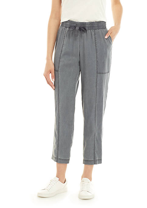 Pull On Easy Ankle Pants