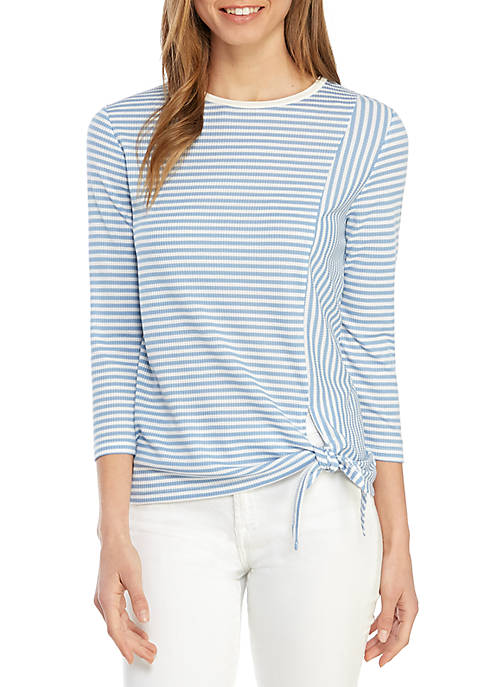 Jones New York Stripe Knit Top