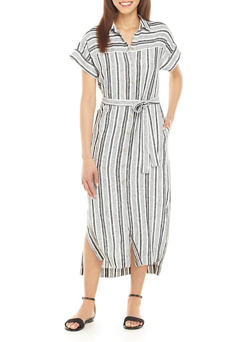 Jones New York Drop Shoulder Shirt Dress
