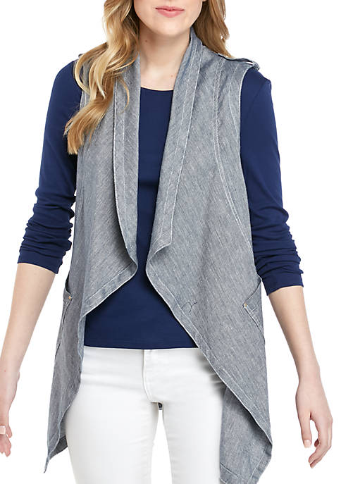 Jones New York Drapey Front Vest