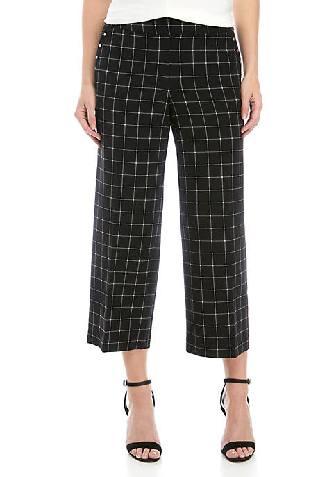 City Grid Culotte Pants