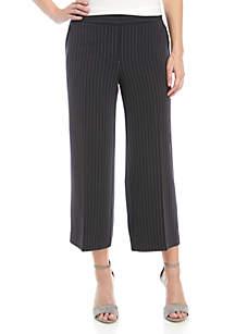 Jones New York Cullotte Stripe Pants