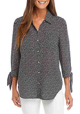 ad0fa66220735c Jones New York Tie Sleeve Shirt ...