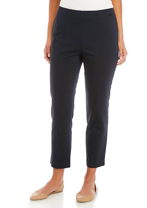Slim Pull On Pants with Pintucks