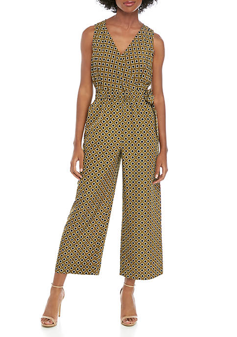 Cropped Romper with Tie Waist