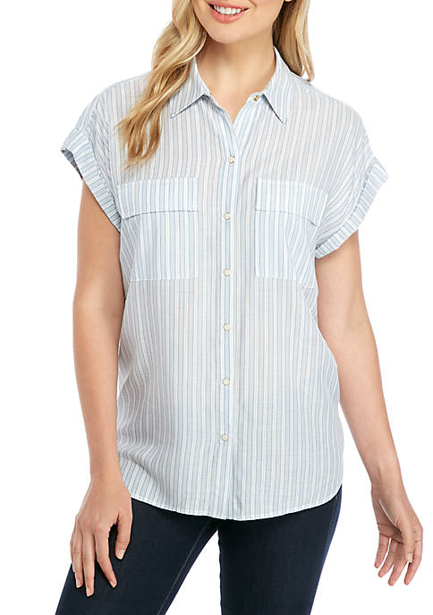 Short Sleeve Boyfriend Shirt