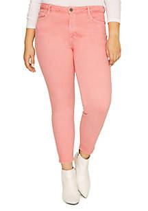 Sanctuary Social Skinny Ankle Pink Denim Pants