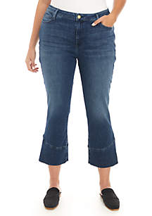 Tulip Hem Cropped Jeans