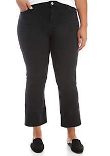 Plus Size Cropped Tulip Hem Jeans