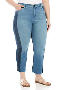 Sanctuary Cropped 2 Tone Straight Jeans