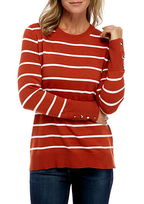 Kim Rogers® Striped Pullover Sweater
