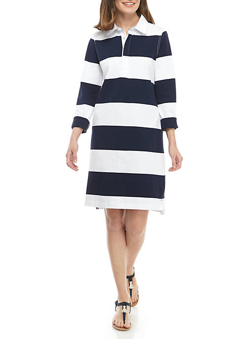 Stripe Rugby Polo Dress