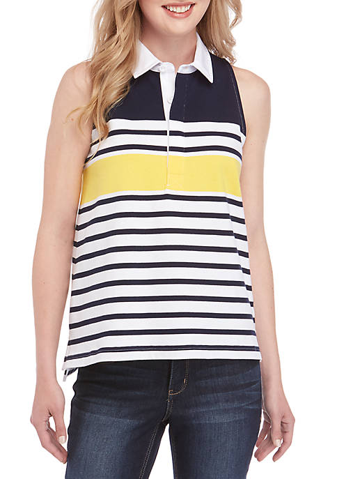 Sleeveless Halter Polo
