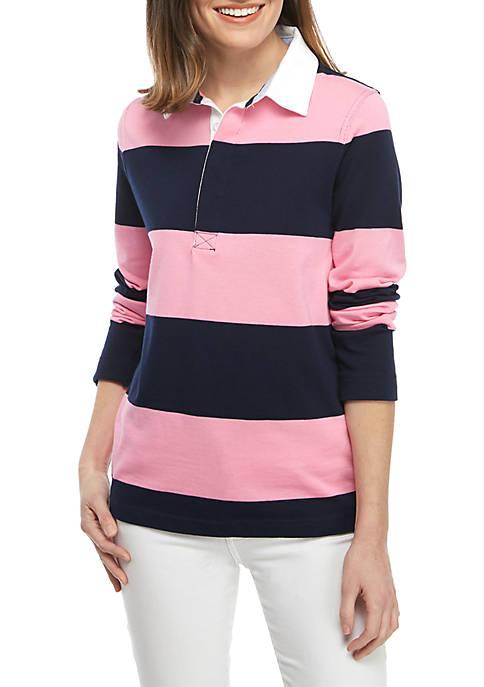 Crown & Ivy™ Petite Stripe Rugby Shirt