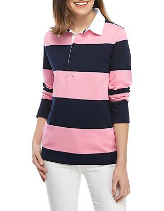 cf8a2e3562e Crown & Ivy™. Crown & Ivy™ Petite Stripe Rugby Shirt