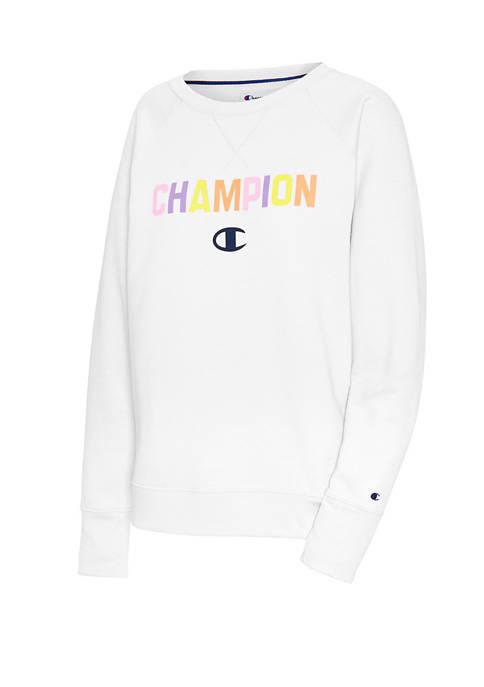 Champion® Powerblend® Rainbow Crew Pullover