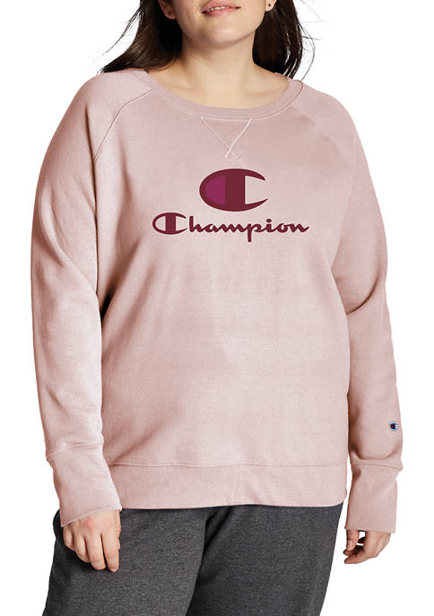 Plus Size PowerBlend Graphic Crew Neck Pullover