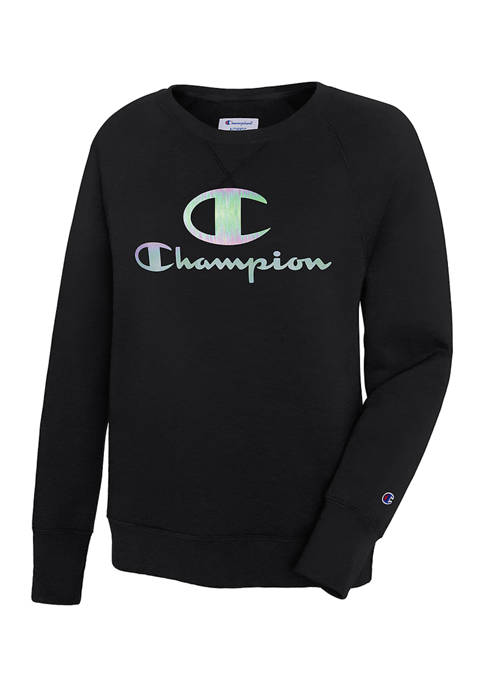 Champion® Plus Size Power Blend Graphic Crew Pullover