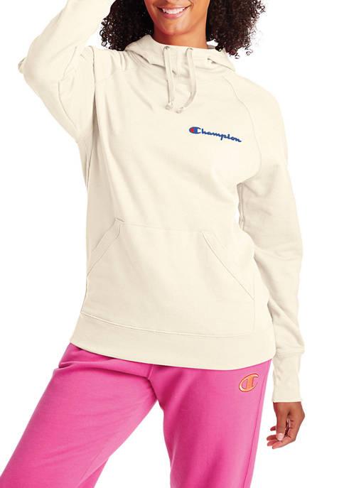 Champion® PowerBlend Left Chest Graphic Hoodie
