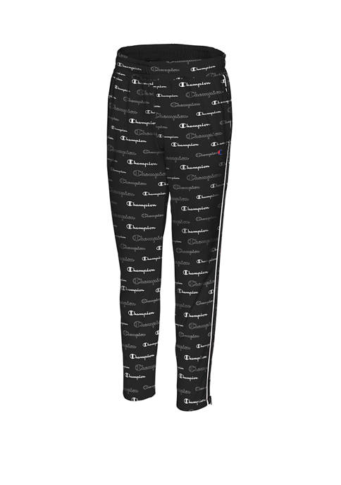 Plus Size Printed Track Pants