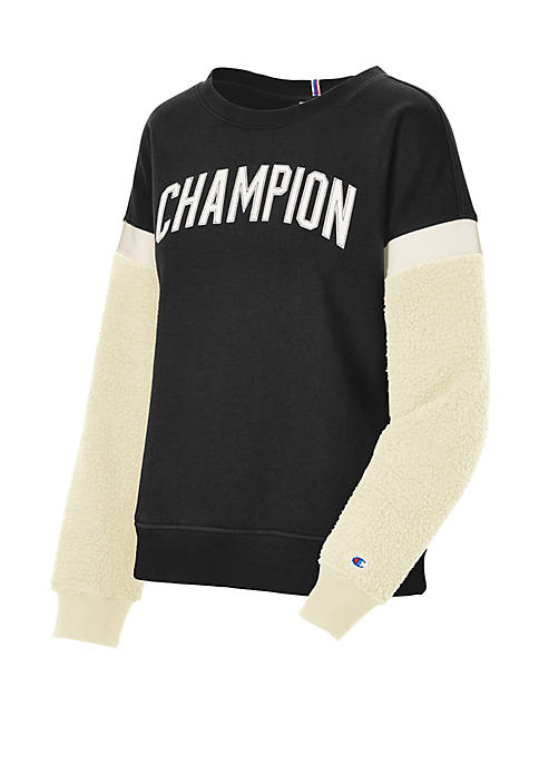 Champion® Heritage Sherpa Sleeve Sweatshirt