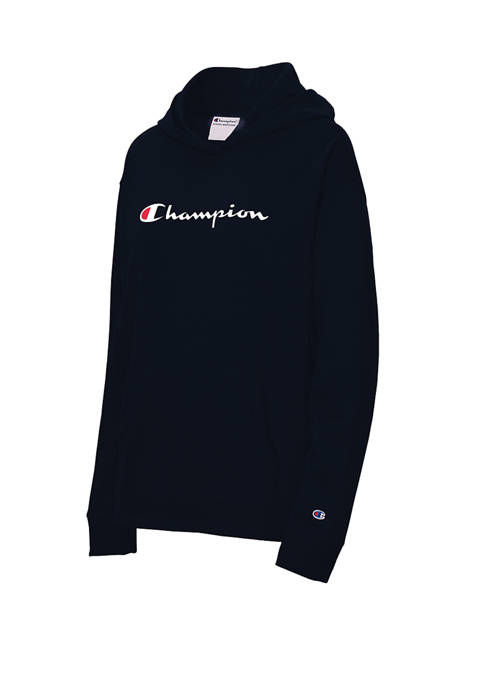 Champion® Long Sleeve Middleweight Logo Hoodie