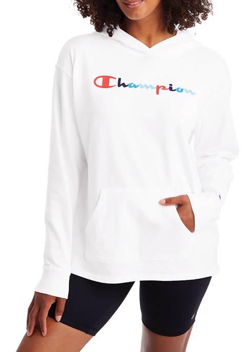 Long Sleeve Middle Logo Hoodie