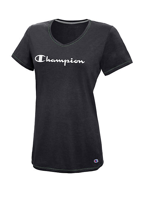 Champion® Jersey V-Neck Tee