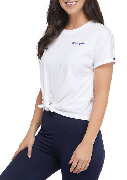 Champion® Tie Front T-Shirt