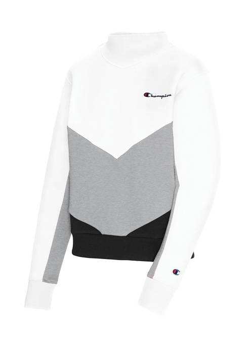 Champion® Campus Fleece Mock Neck Pullover