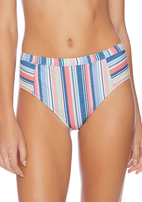 Stripe High Waist Swim Pants