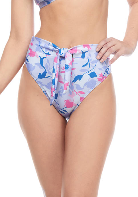 Floral High Waisted Swim Bottoms