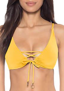 Soluna Halter Swim Loop Front Bikini Top