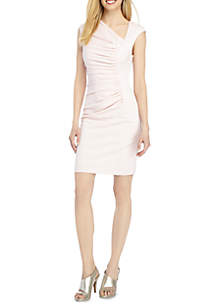 THE LIMITED Brooke Asymmetric Ruched Sheath Dress