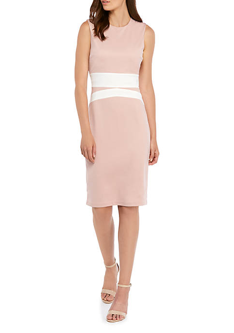 THE LIMITED Color Block Sheath Dress