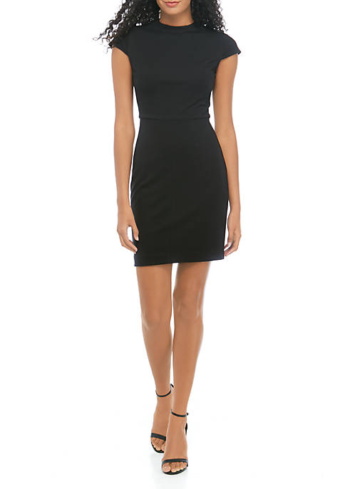 THE LIMITED Mock Neck Cap Sleeve Sheath Dress