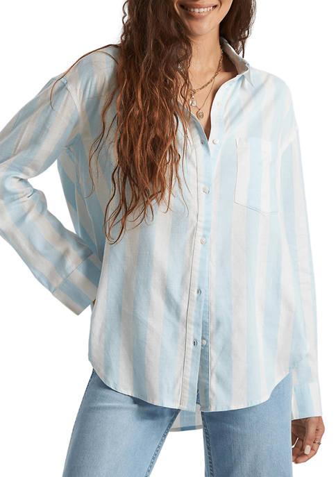 Billabong Drop Shoulder Striped Button Down Shirt