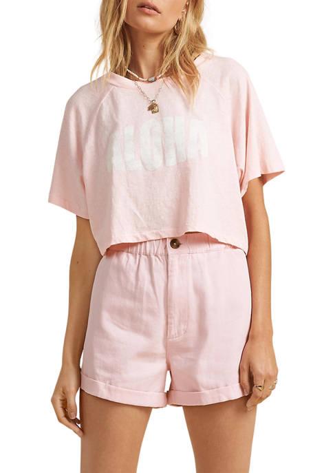Billabong Short Sleeve Cropped Aloha Graphic T-Shirt