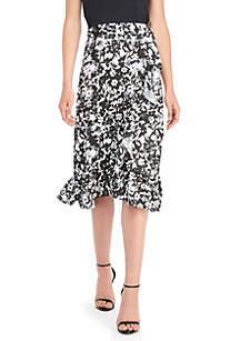 THE LIMITED Ruffle Wrap Midi Skirt