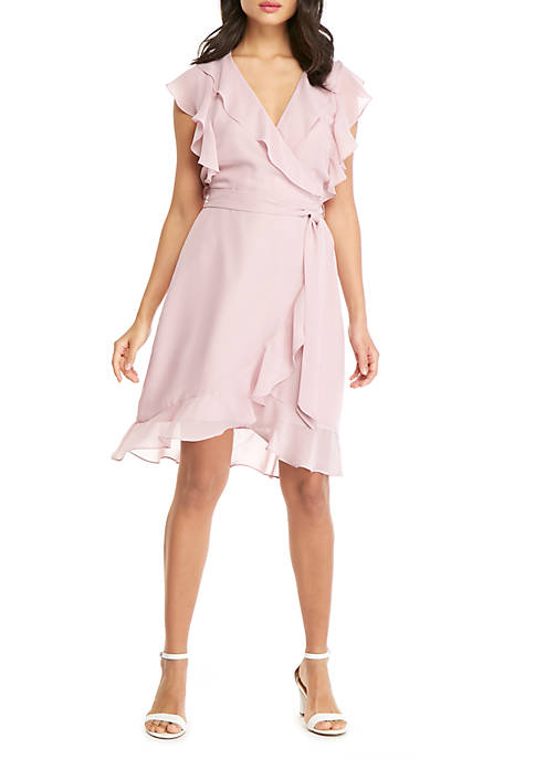 THE LIMITED Ruffle Wrap Dress